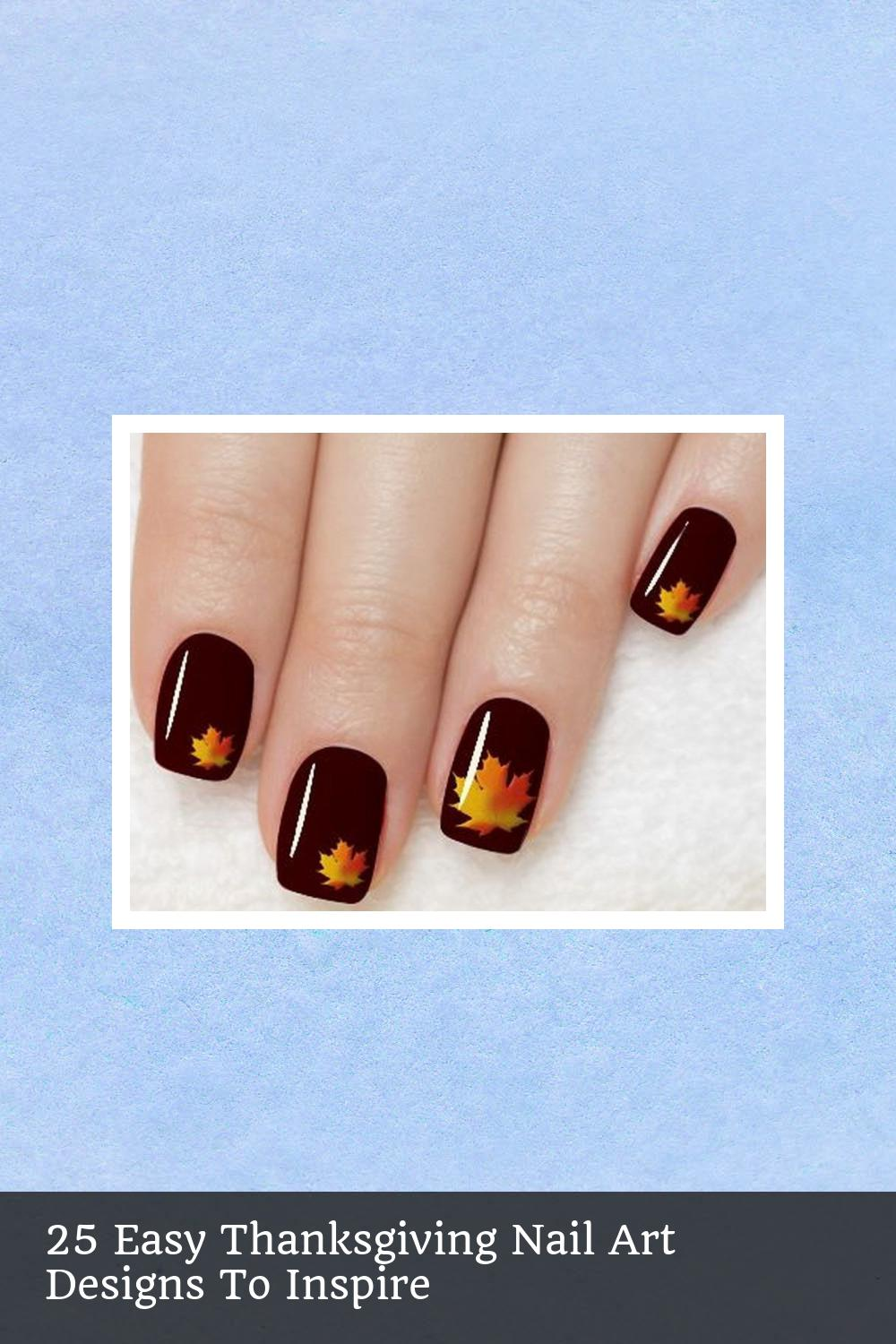 25 Easy Thanksgiving Nail Art Designs To Inspire 1