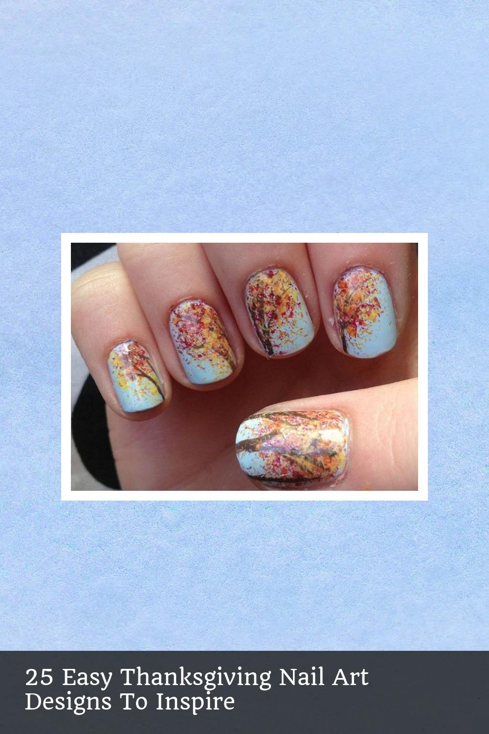 25 Easy Thanksgiving Nail Art Designs To Inspire 12