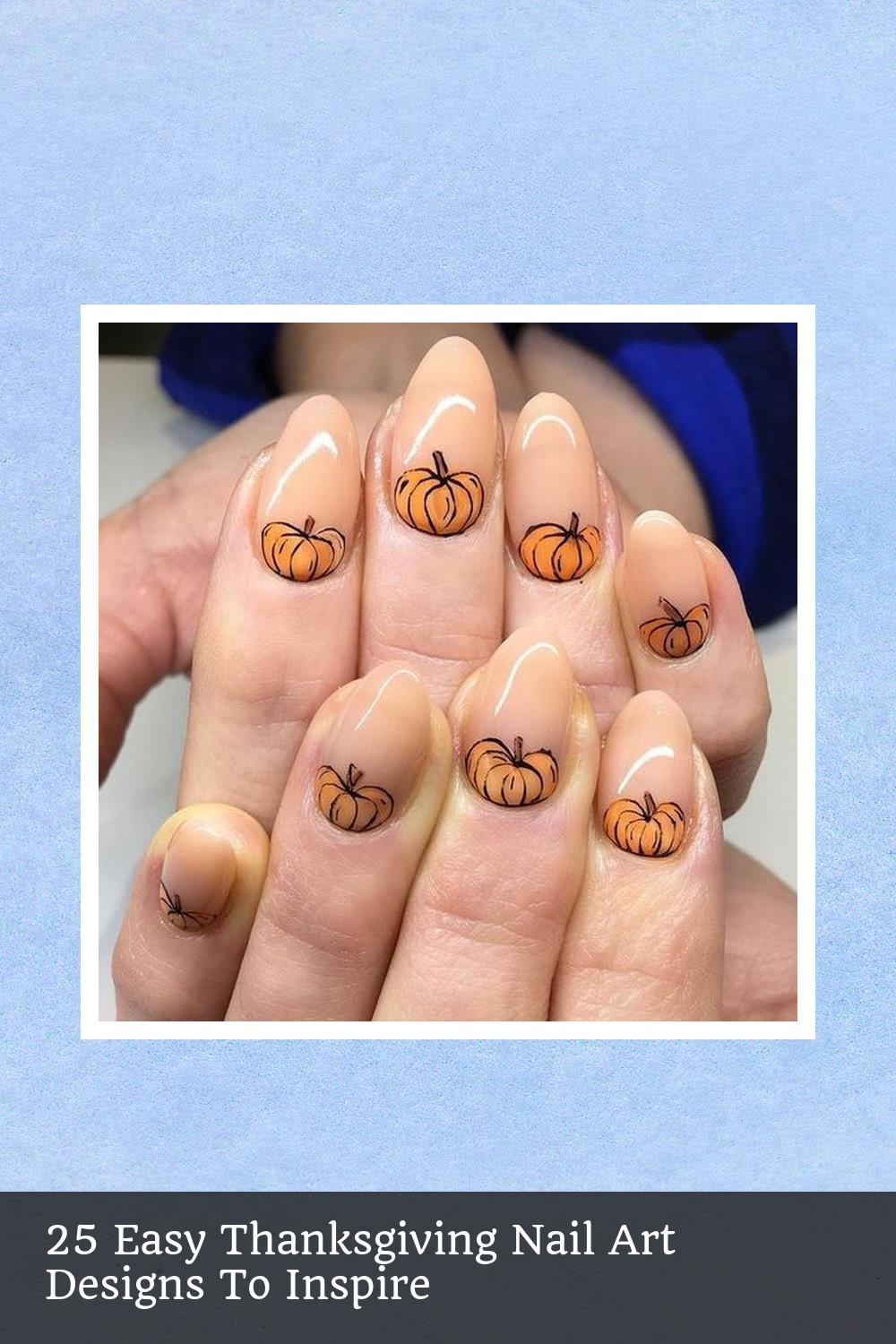 25 Easy Thanksgiving Nail Art Designs To Inspire 13