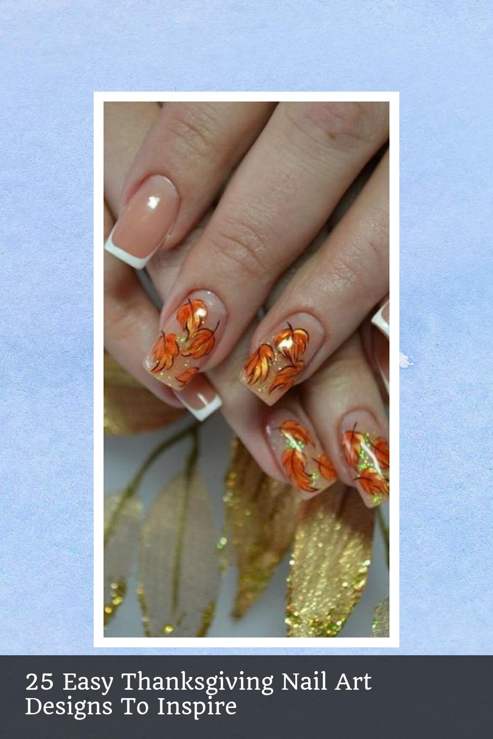 25 Easy Thanksgiving Nail Art Designs To Inspire 14