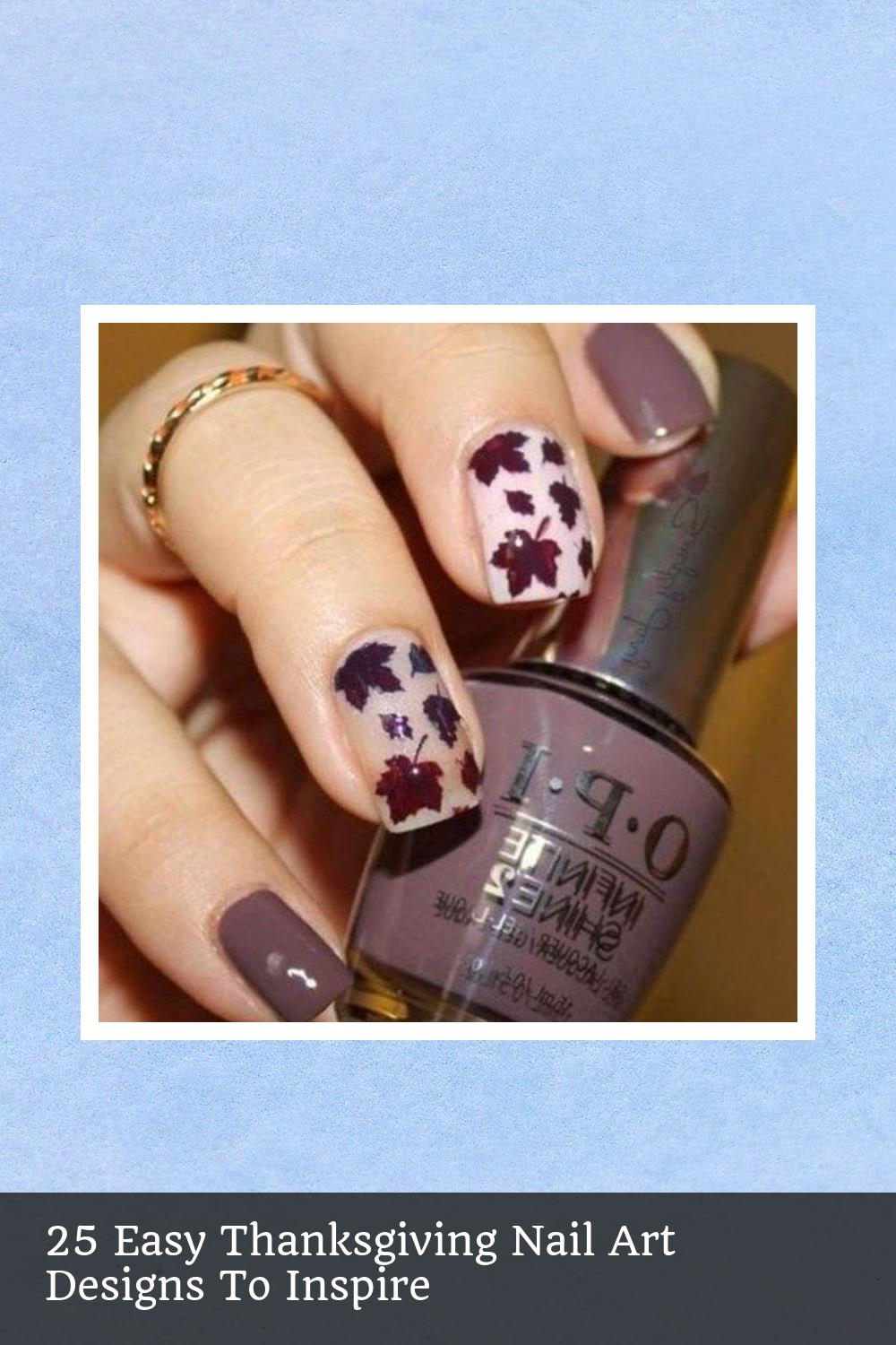 25 Easy Thanksgiving Nail Art Designs To Inspire 15
