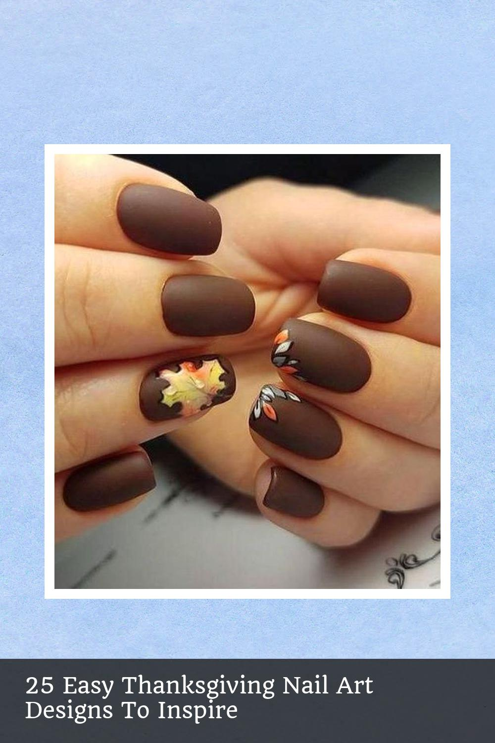 25 Easy Thanksgiving Nail Art Designs To Inspire 16