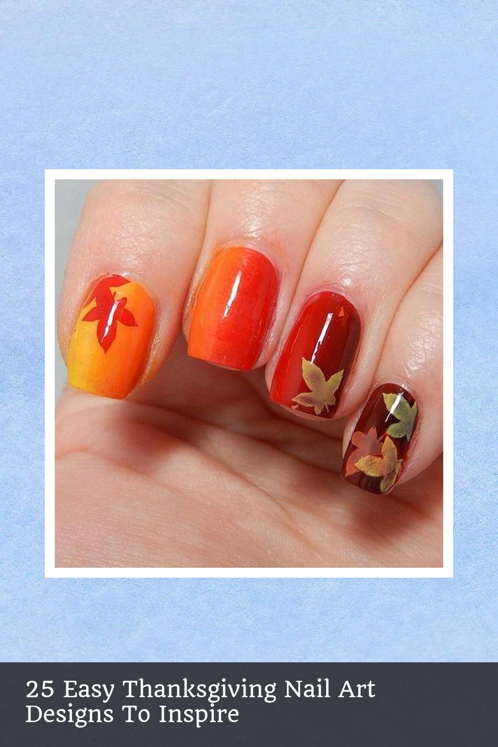 25 Easy Thanksgiving Nail Art Designs To Inspire 17