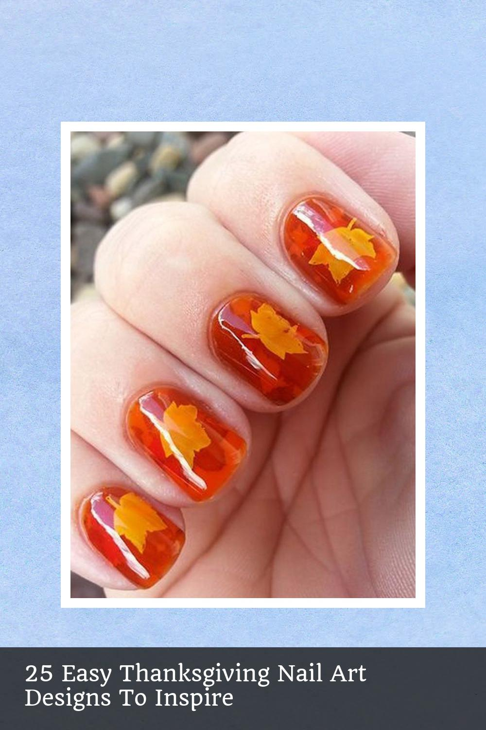 25 Easy Thanksgiving Nail Art Designs To Inspire 18