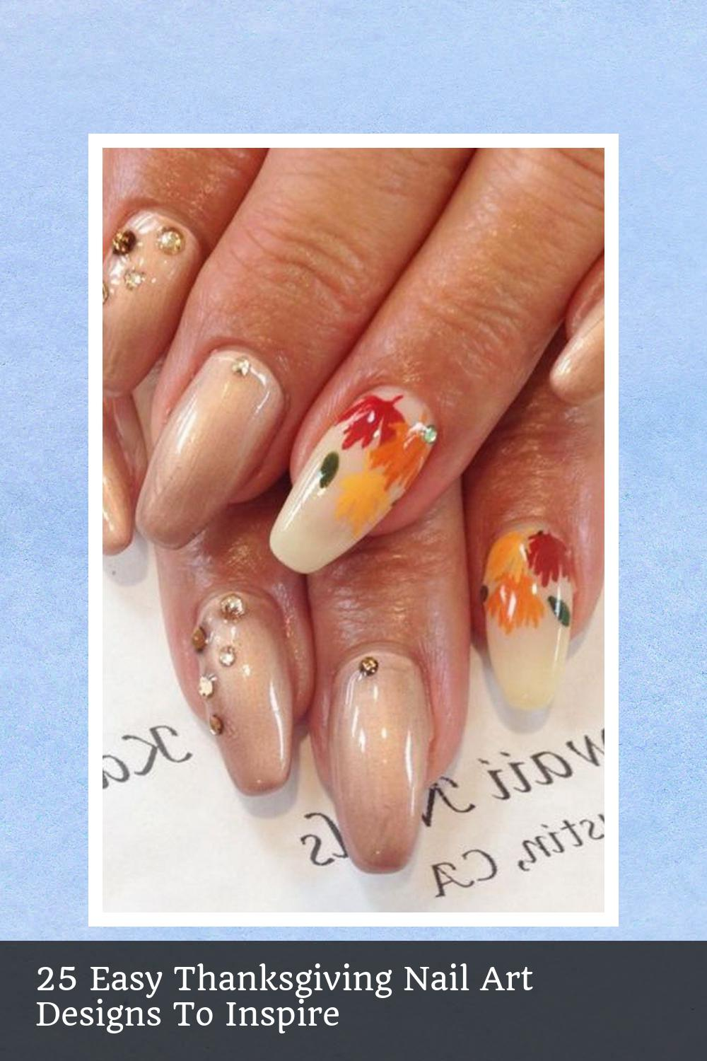 25 Easy Thanksgiving Nail Art Designs To Inspire 20