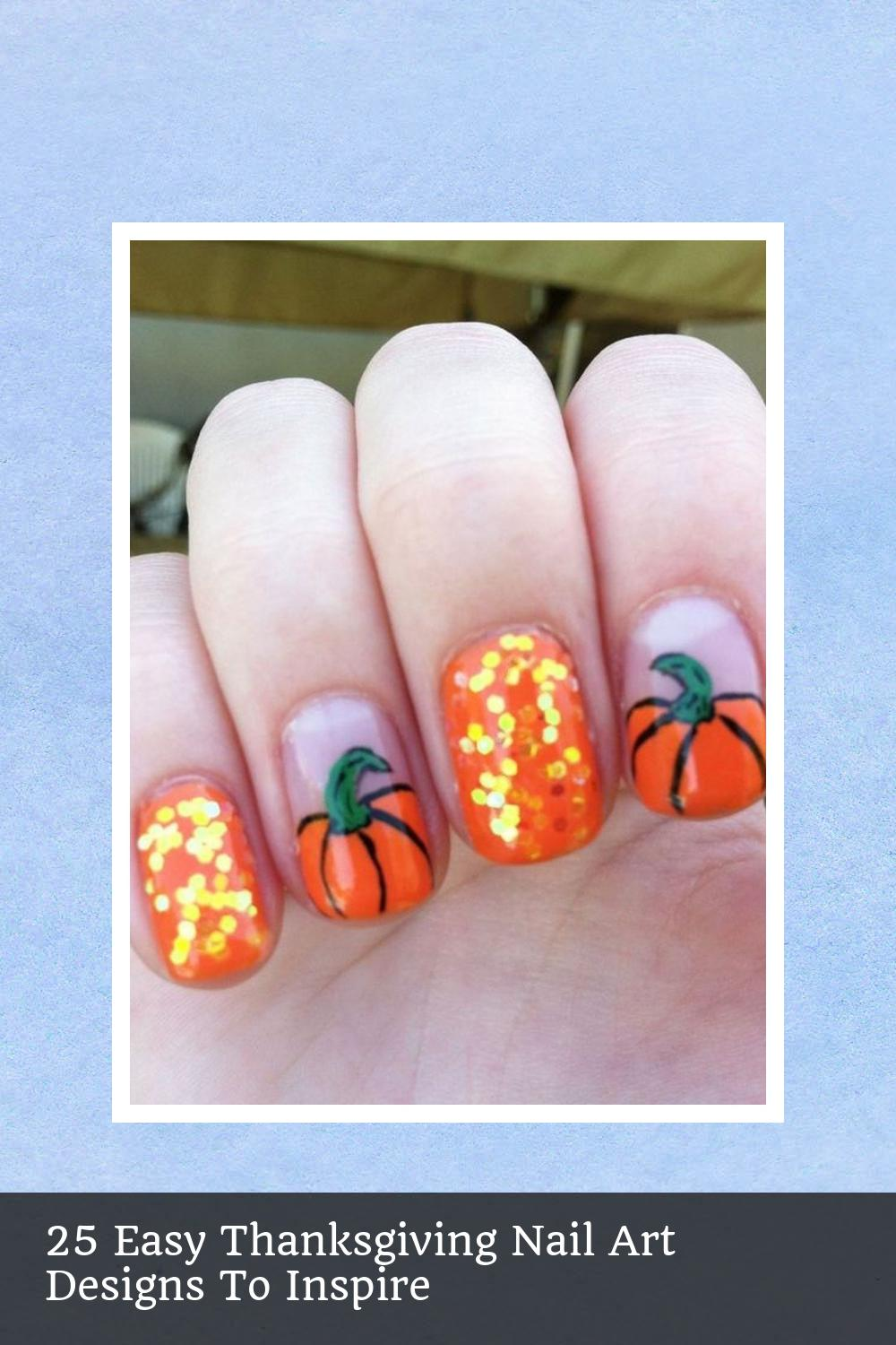25 Easy Thanksgiving Nail Art Designs To Inspire 22