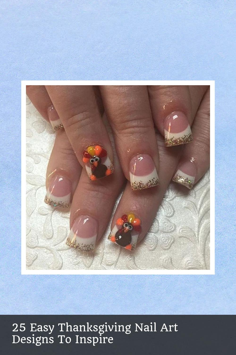 25 Easy Thanksgiving Nail Art Designs To Inspire 4