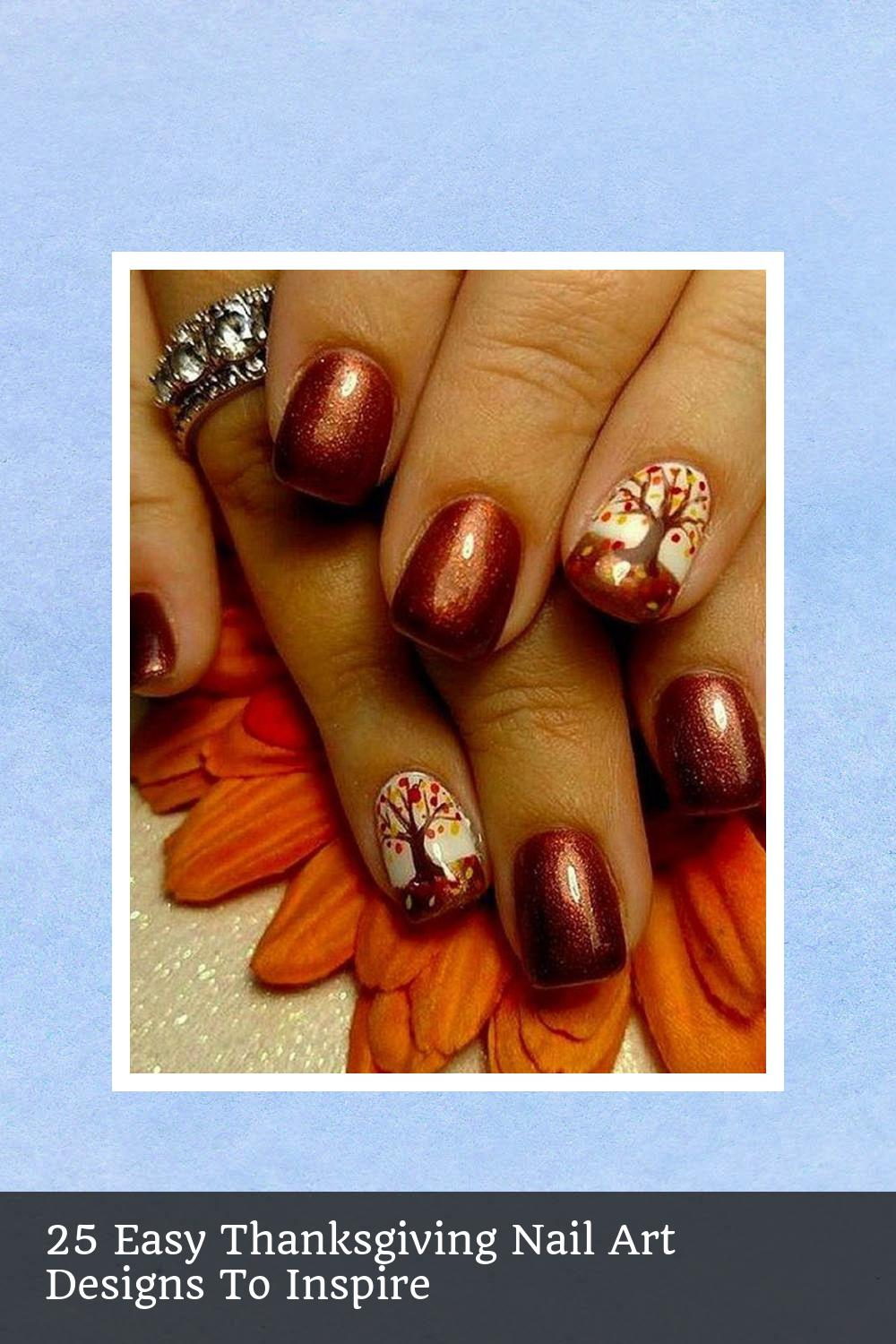 25 Easy Thanksgiving Nail Art Designs To Inspire 5