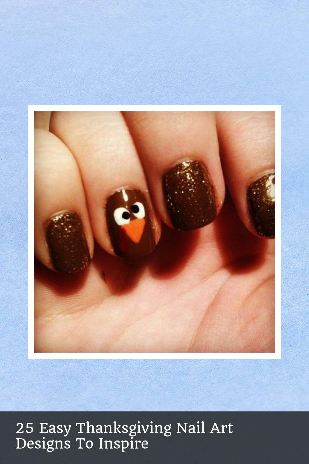 25 Easy Thanksgiving Nail Art Designs To Inspire 7