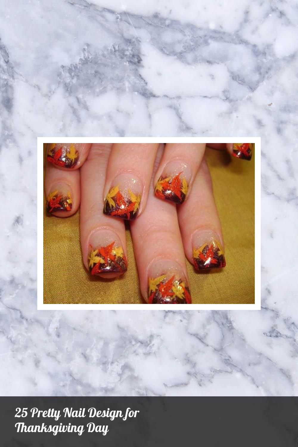 25 Pretty Nail Design for Thanksgiving Day 10