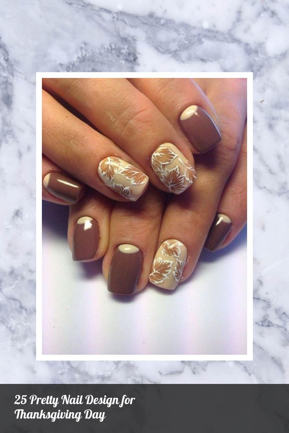 25 Pretty Nail Design for Thanksgiving Day 11