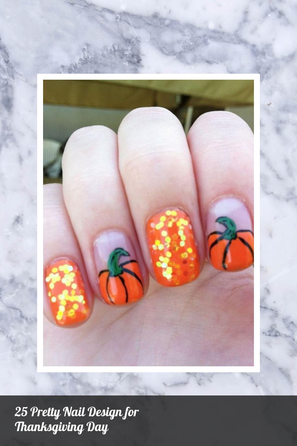 25 Pretty Nail Design for Thanksgiving Day 12