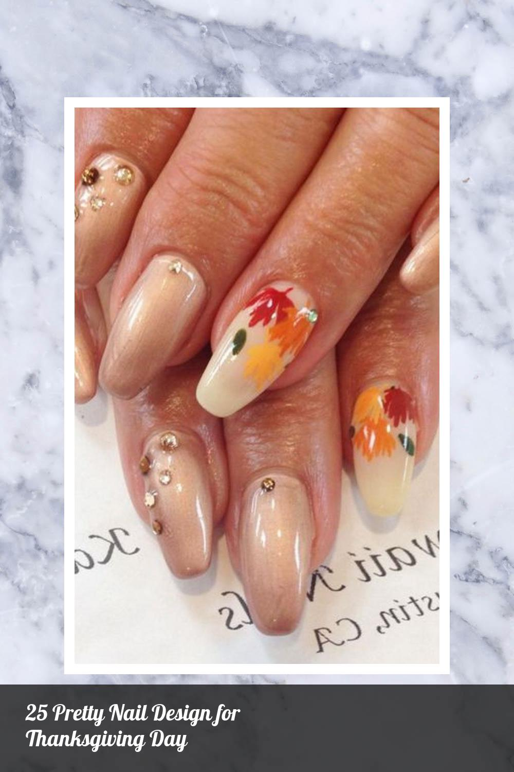 25 Pretty Nail Design for Thanksgiving Day 14