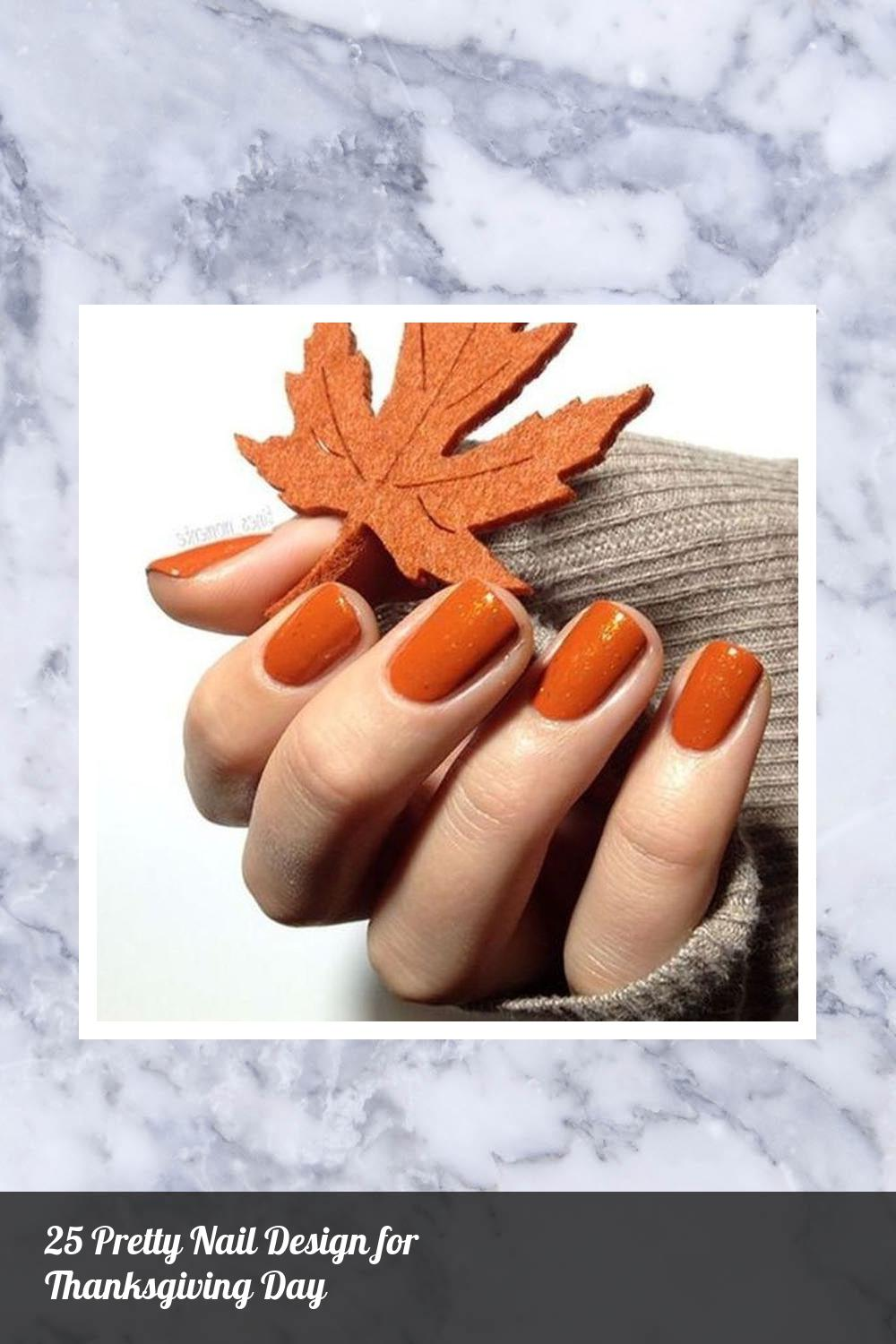 25 Pretty Nail Design for Thanksgiving Day 15