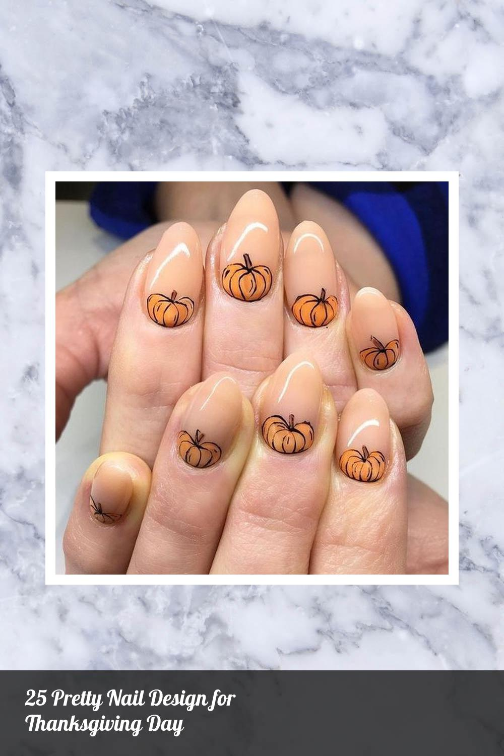 25 Pretty Nail Design for Thanksgiving Day 16