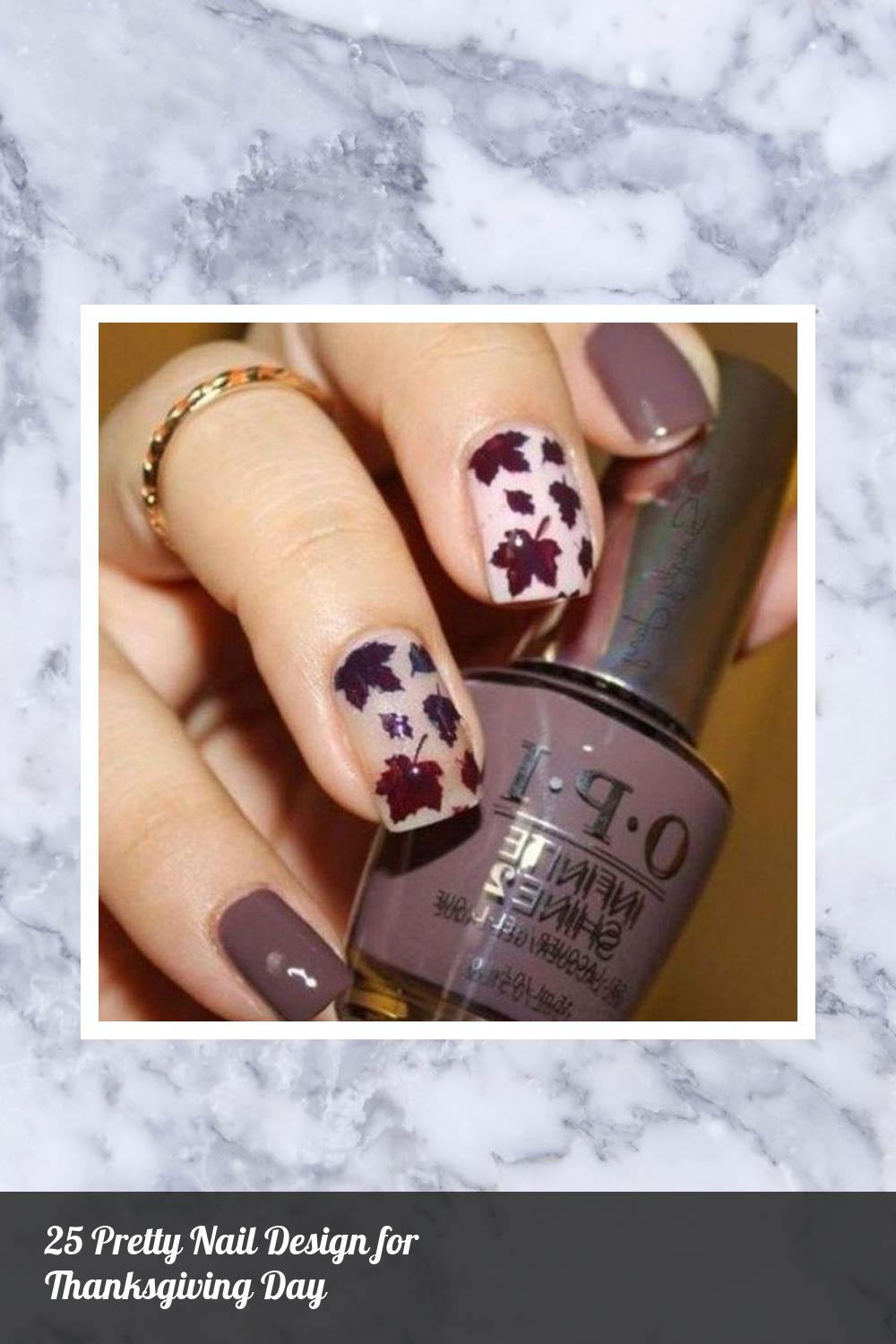 25 Pretty Nail Design for Thanksgiving Day 17