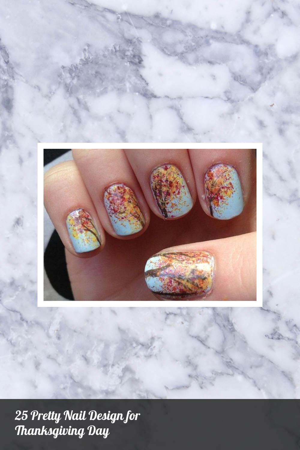 25 Pretty Nail Design for Thanksgiving Day 18
