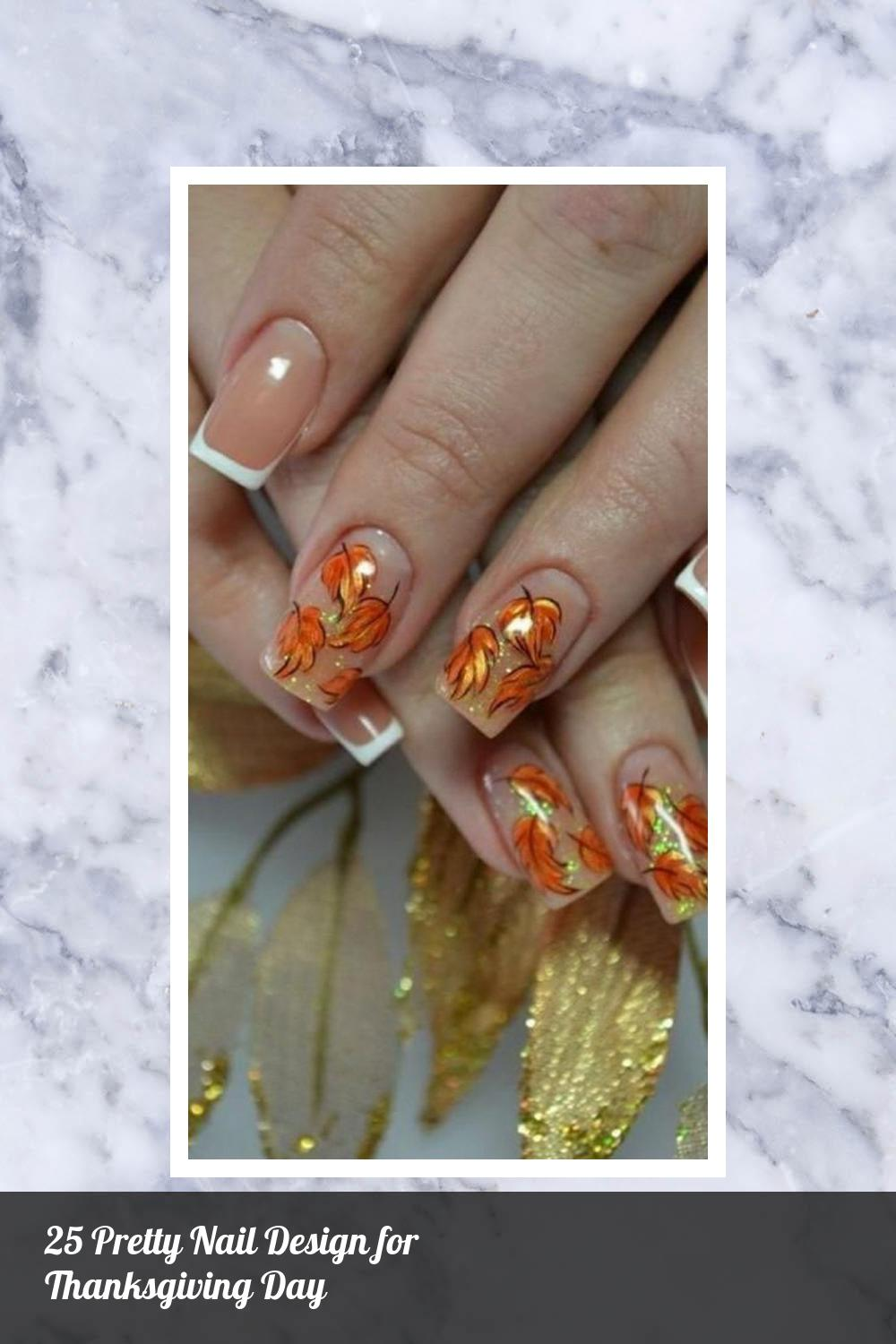 25 Pretty Nail Design for Thanksgiving Day 19