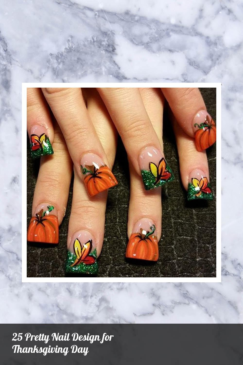 25 Pretty Nail Design for Thanksgiving Day 2