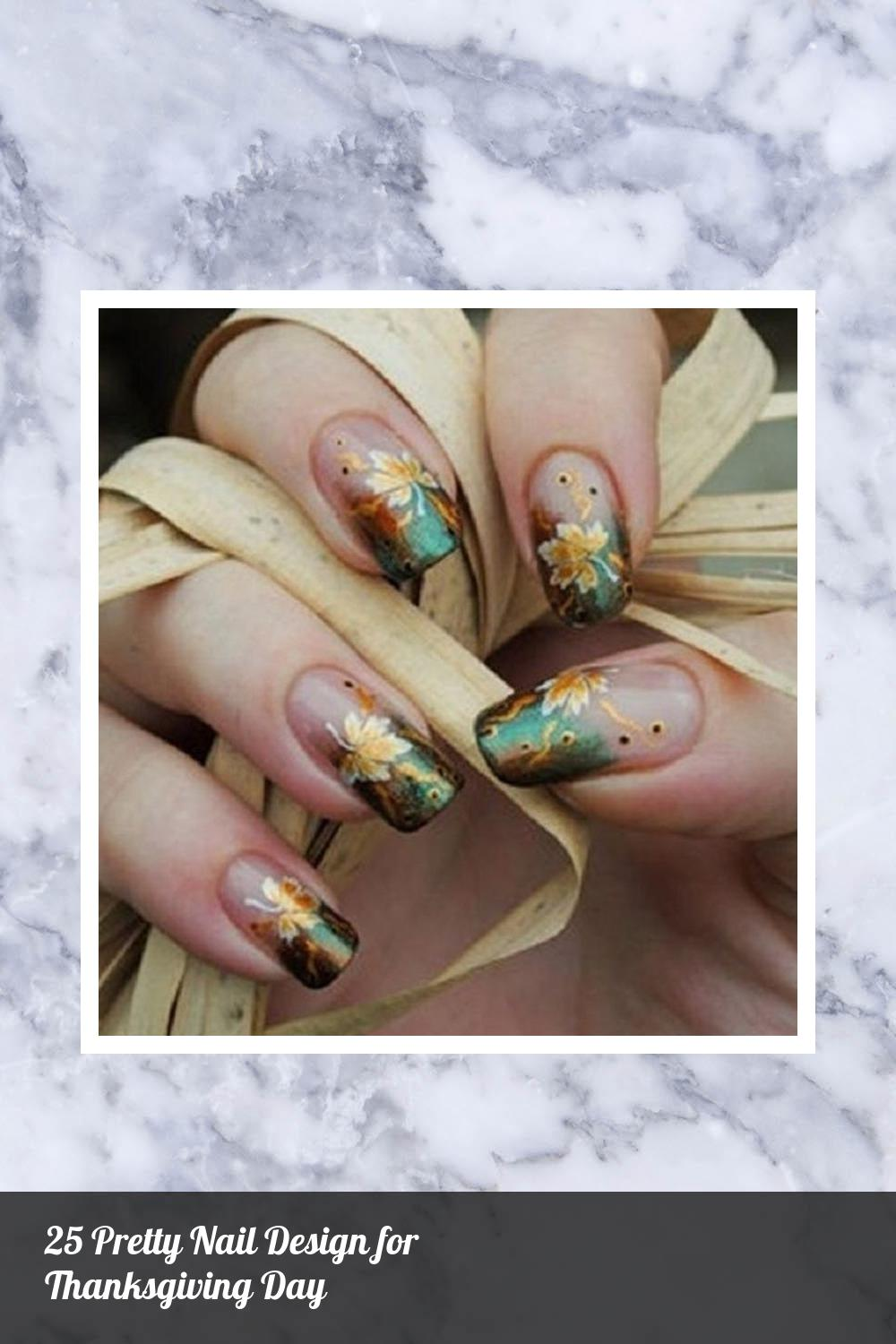 25 Pretty Nail Design for Thanksgiving Day 21