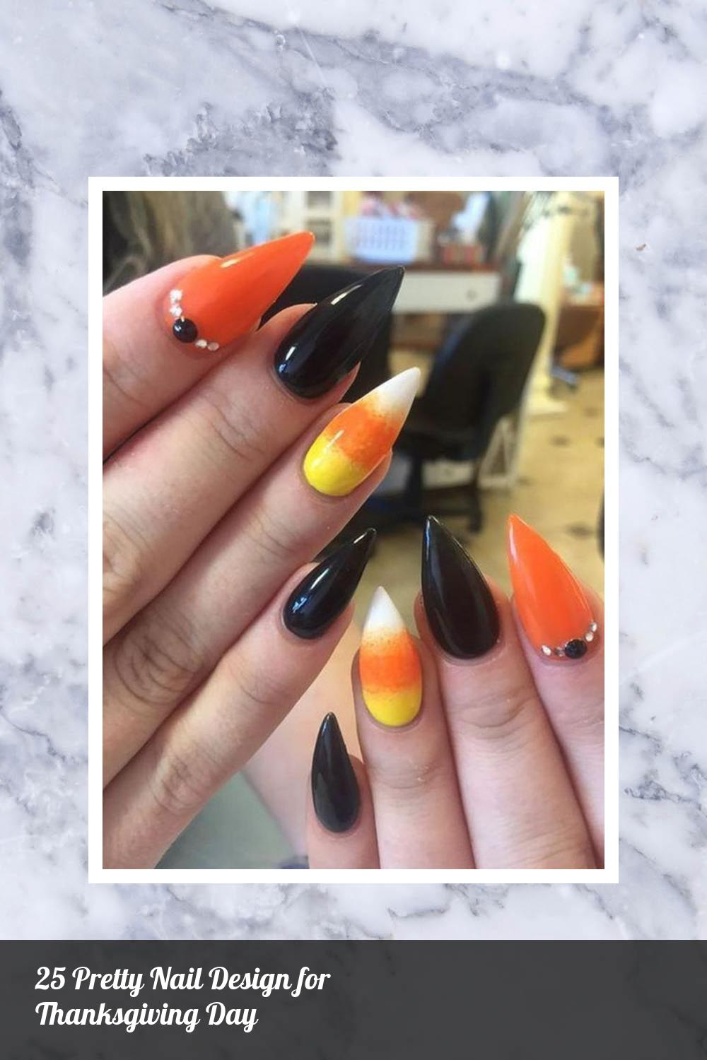 25 Pretty Nail Design for Thanksgiving Day 22