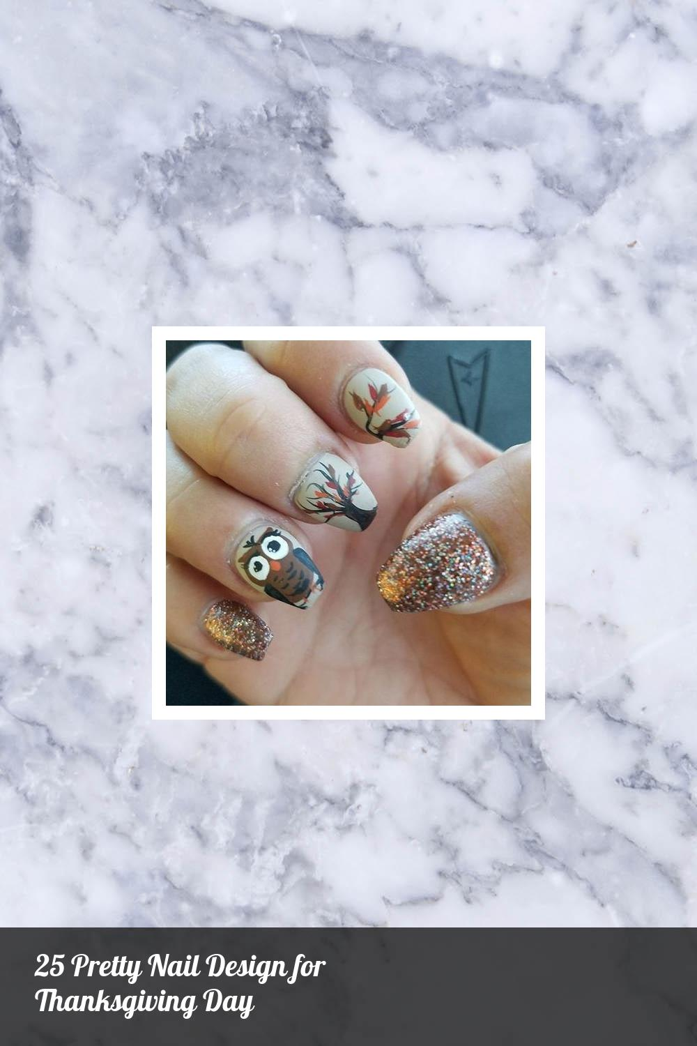 25 Pretty Nail Design for Thanksgiving Day 24