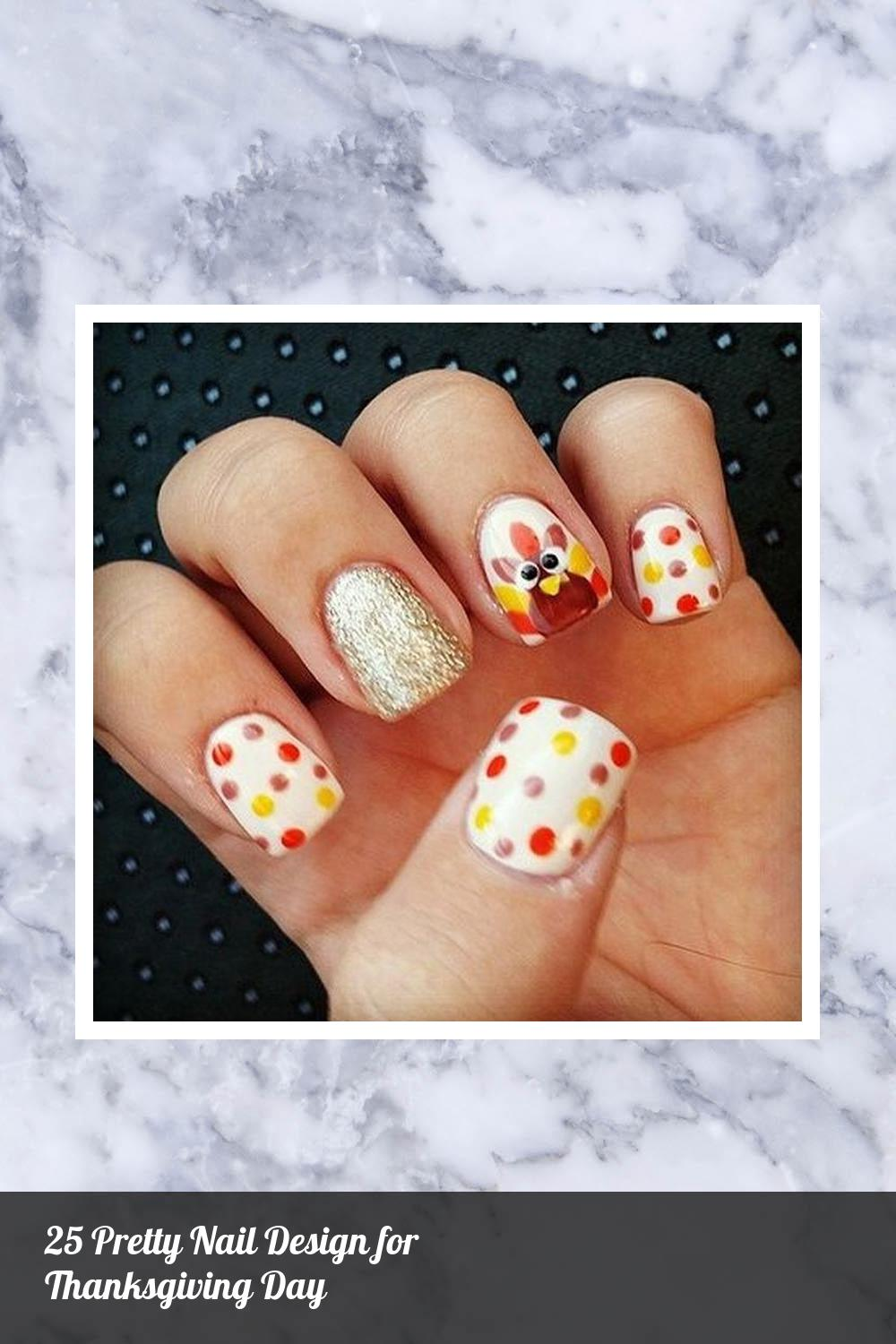 25 Pretty Nail Design for Thanksgiving Day 3