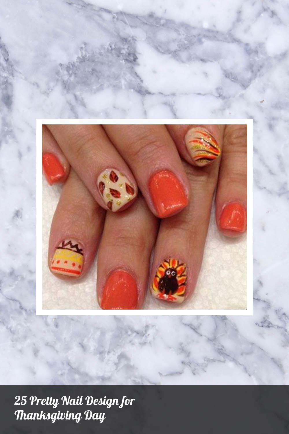 25 Pretty Nail Design for Thanksgiving Day 6