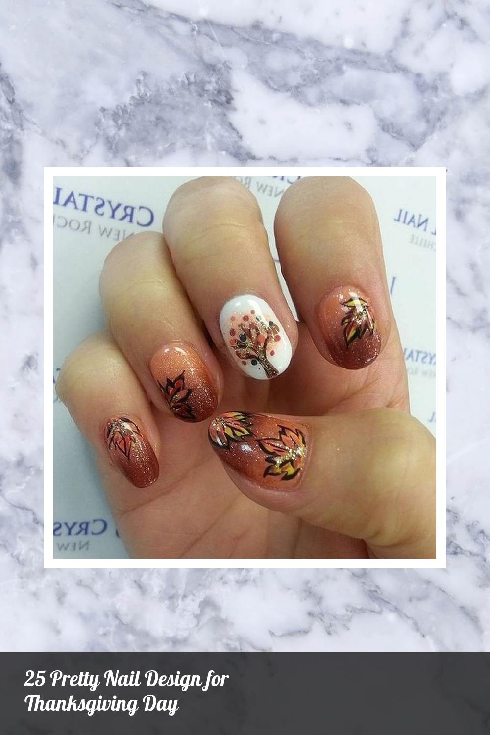 25 Pretty Nail Design for Thanksgiving Day 7