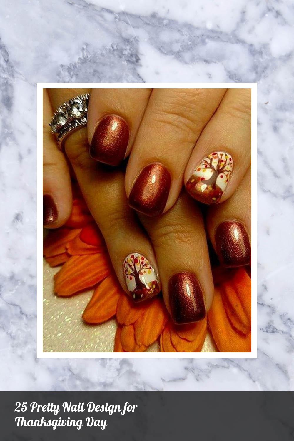 25 Pretty Nail Design for Thanksgiving Day 8