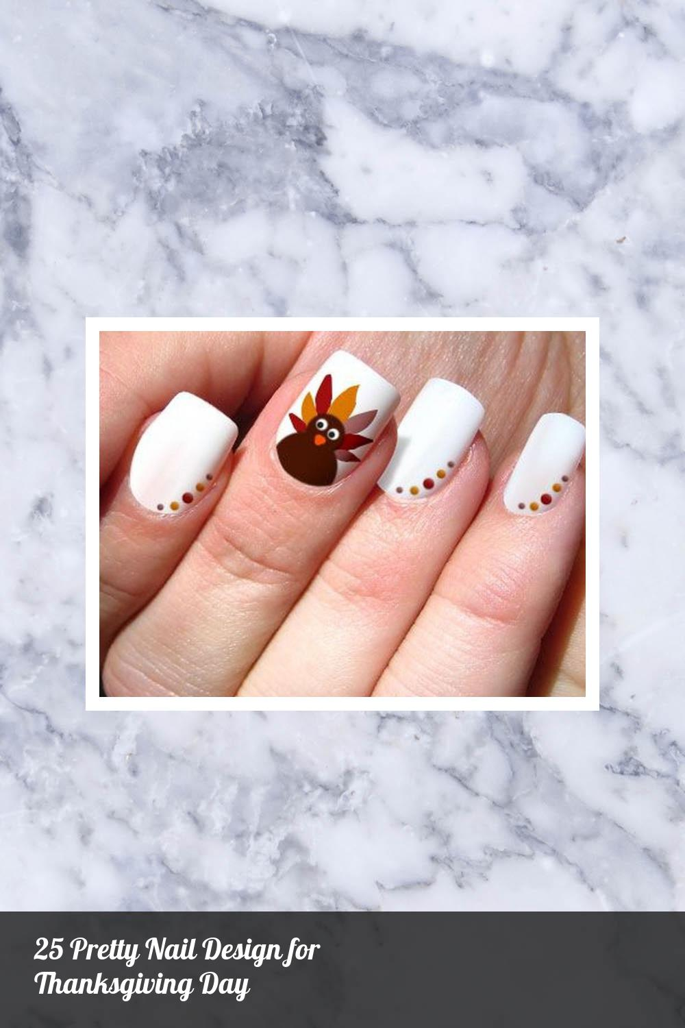 25 Pretty Nail Design for Thanksgiving Day 9