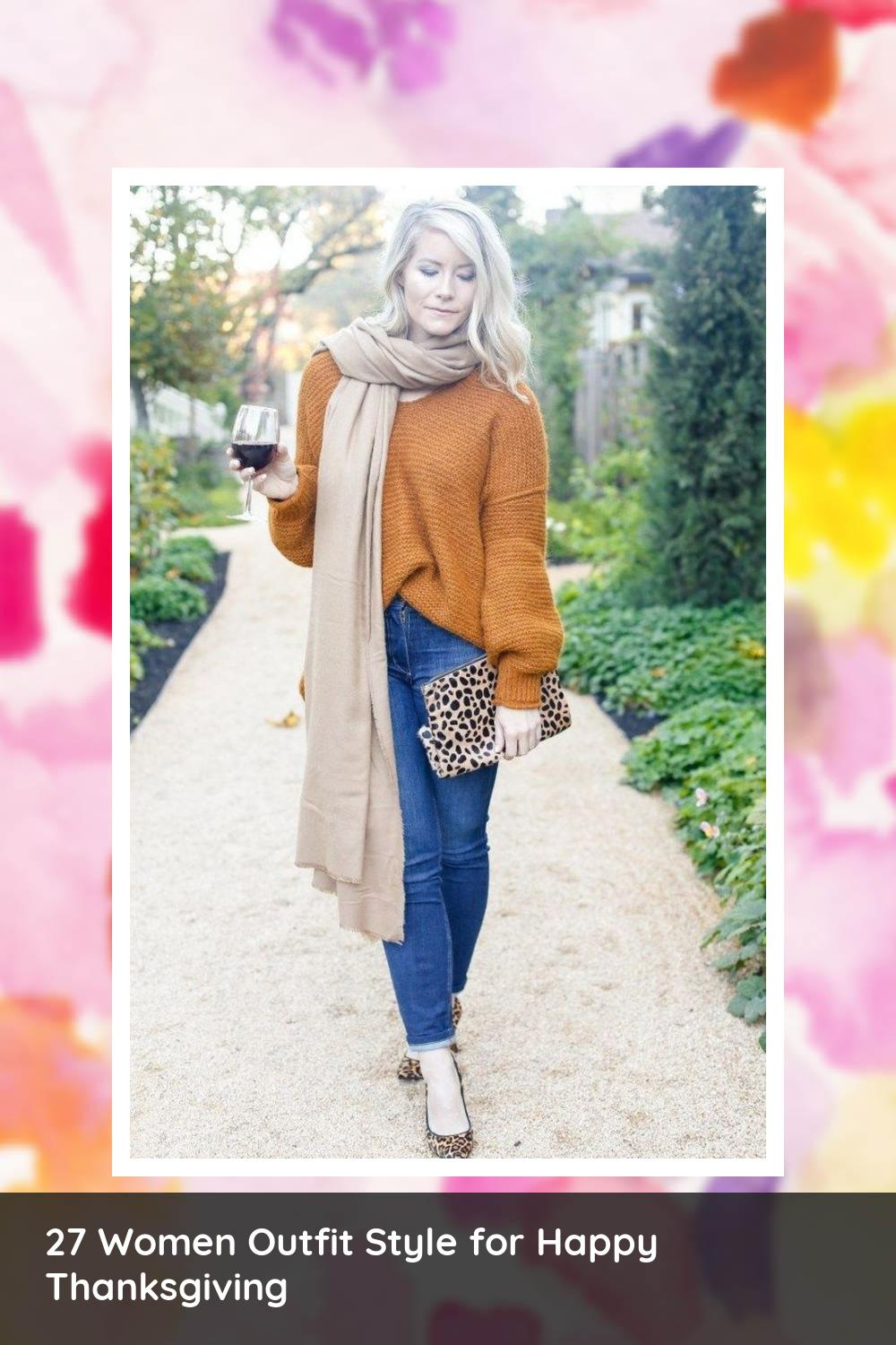 27 Women Outfit Style for Happy Thanksgiving 11