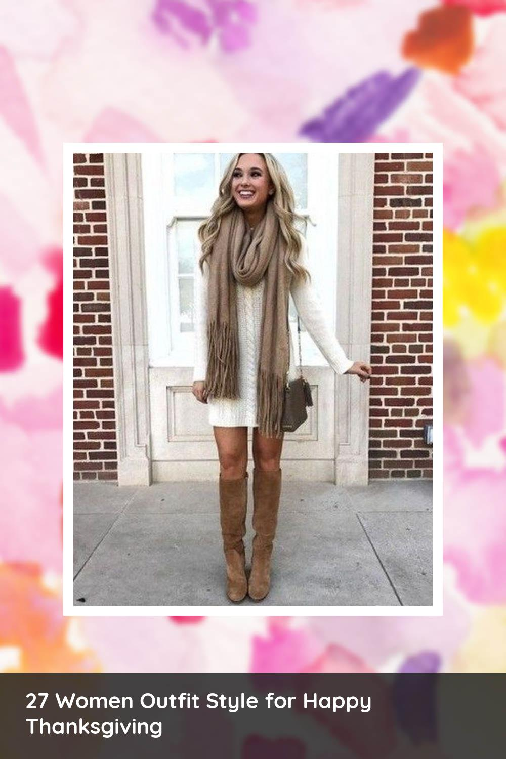 27 Women Outfit Style for Happy Thanksgiving 13
