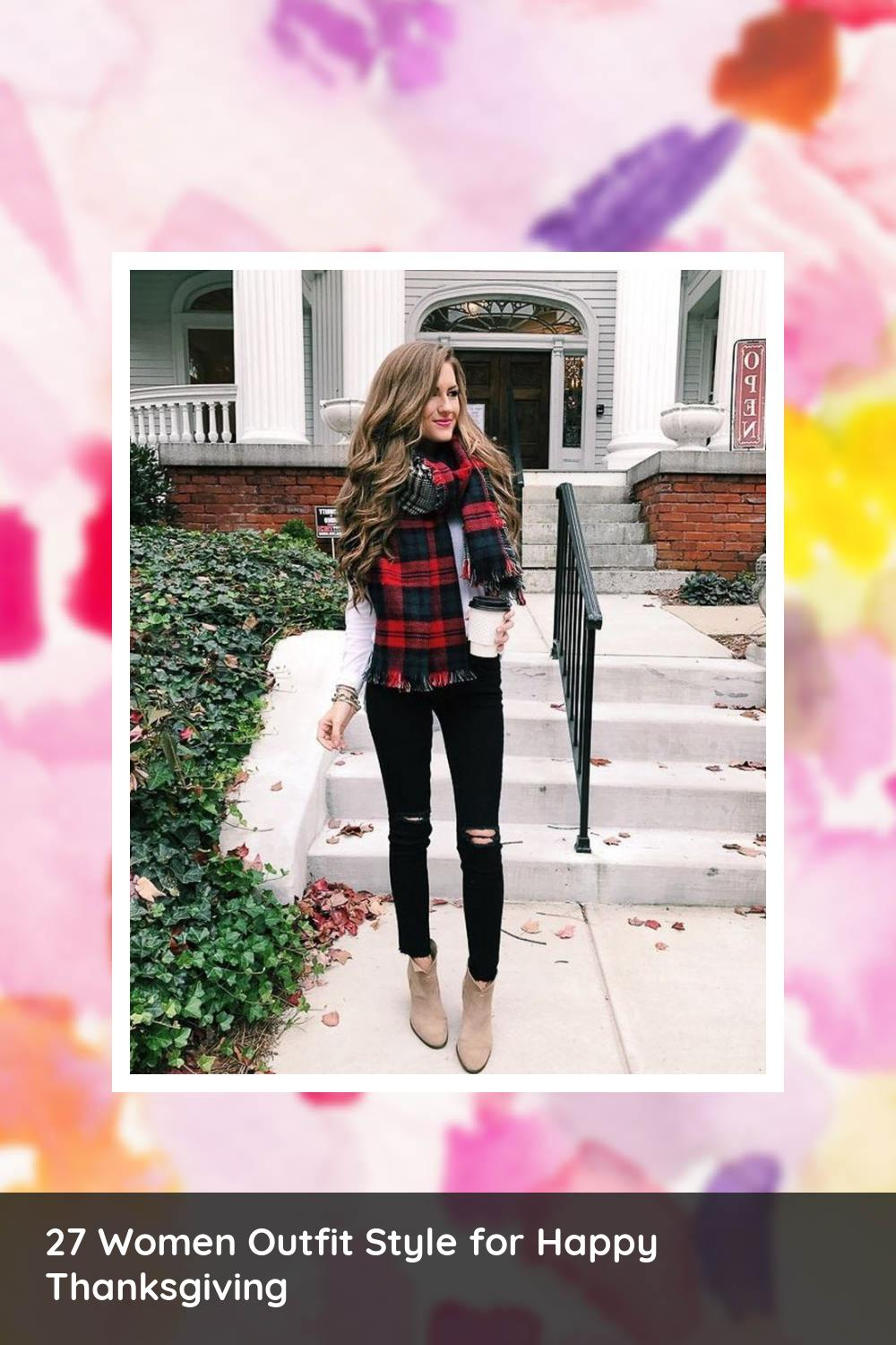 27 Women Outfit Style for Happy Thanksgiving 17