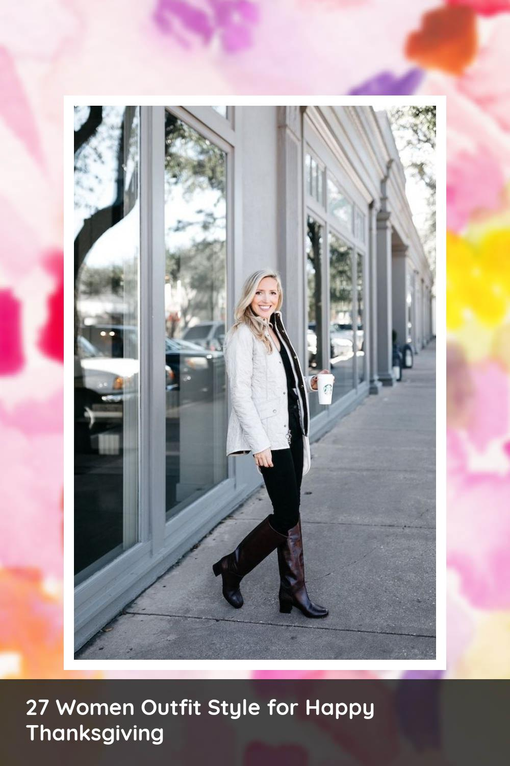 27 Women Outfit Style for Happy Thanksgiving 2