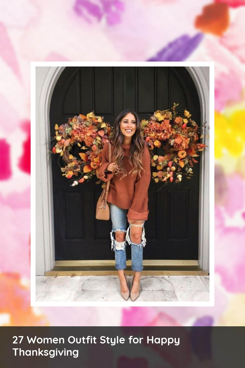 27 Women Outfit Style for Happy Thanksgiving 20