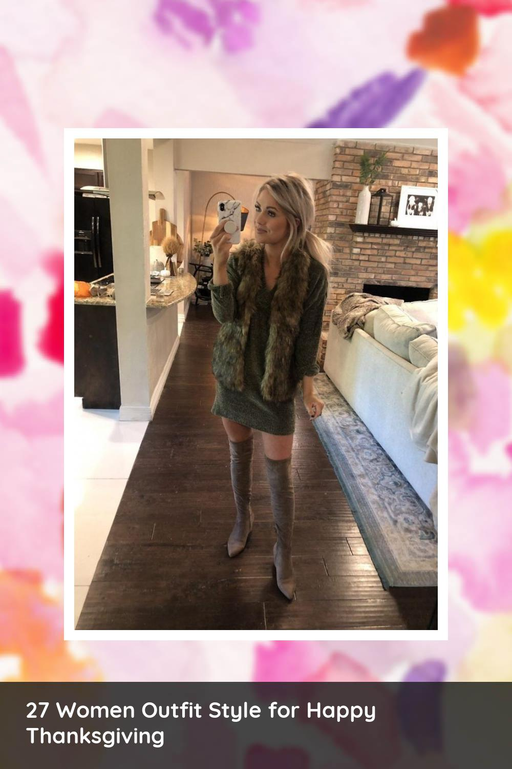 27 Women Outfit Style for Happy Thanksgiving 22