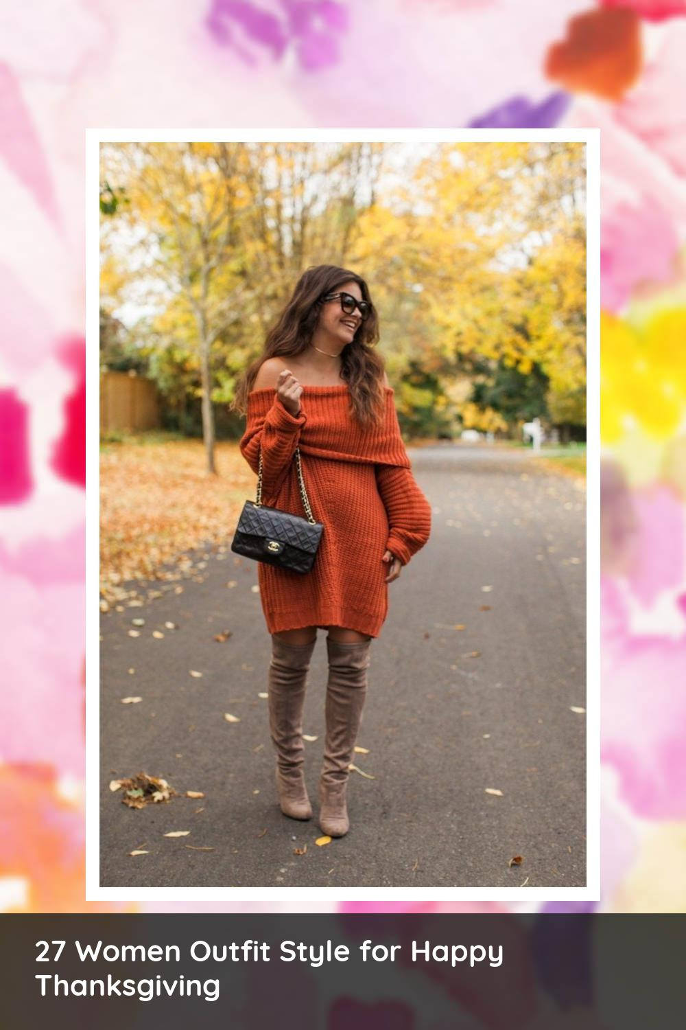27 Women Outfit Style for Happy Thanksgiving 23