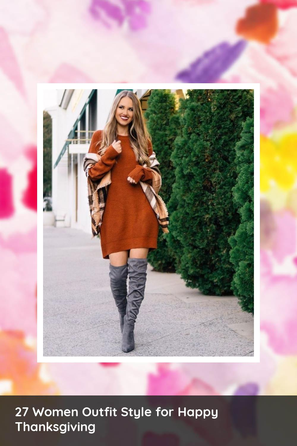 27 Women Outfit Style for Happy Thanksgiving 4