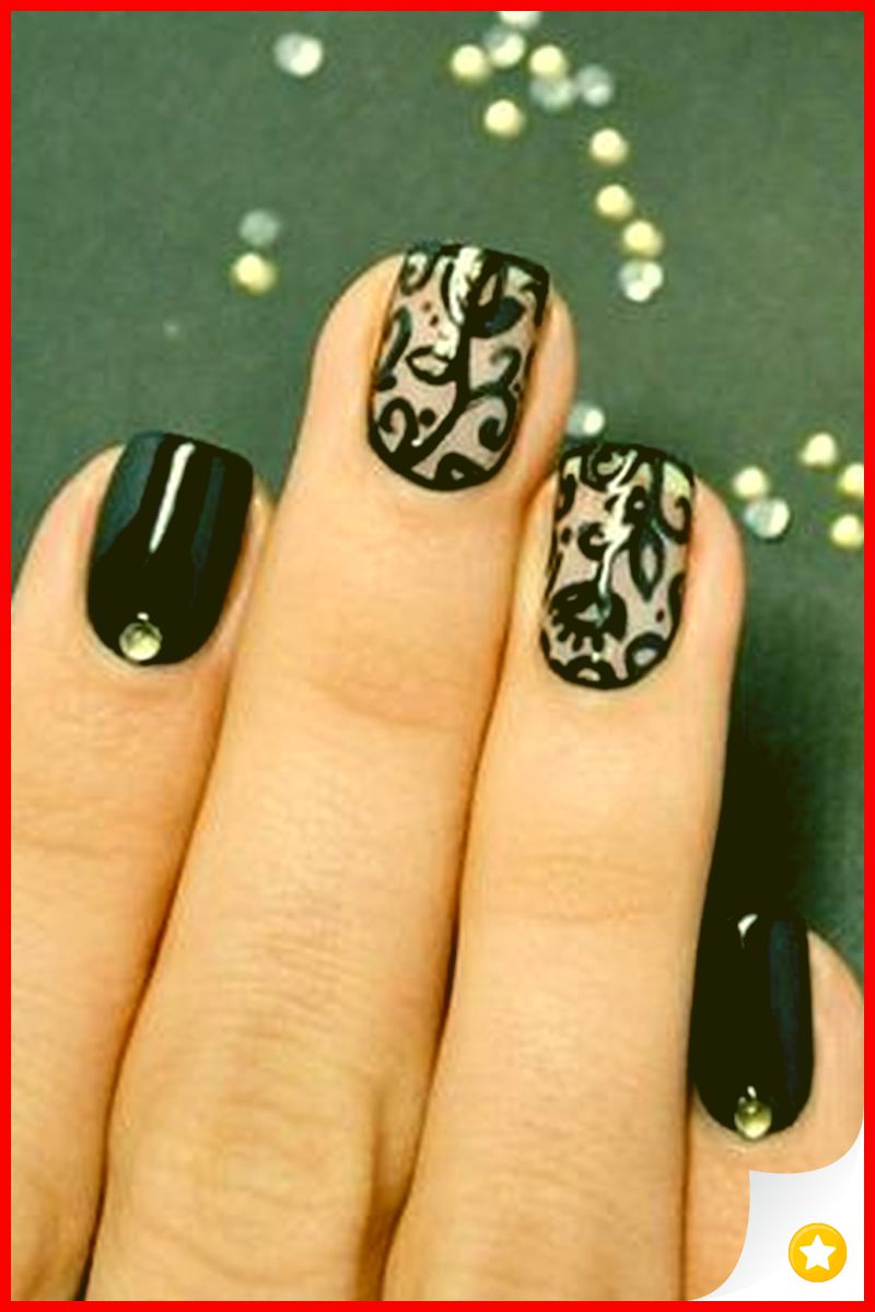 29 Amazing Nail Art Design for Prom Party 1