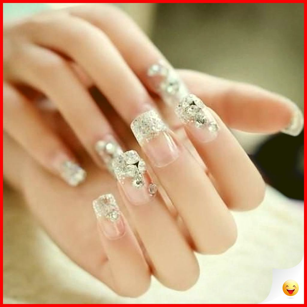 33 Elegant and Glamour Glitter Nail Art for Prom Party 4