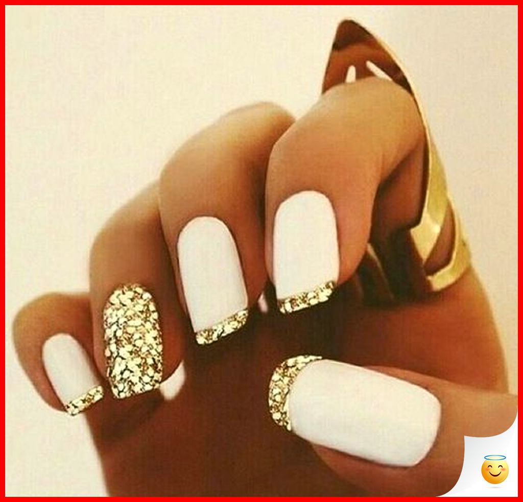 33 Elegant and Glamour Glitter Nail Art for Prom Party 7