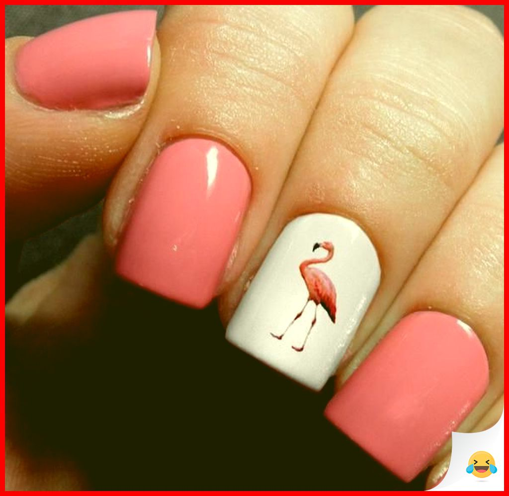35 Beautiful Flamingo Nail Art Ideas for Your First Style 1