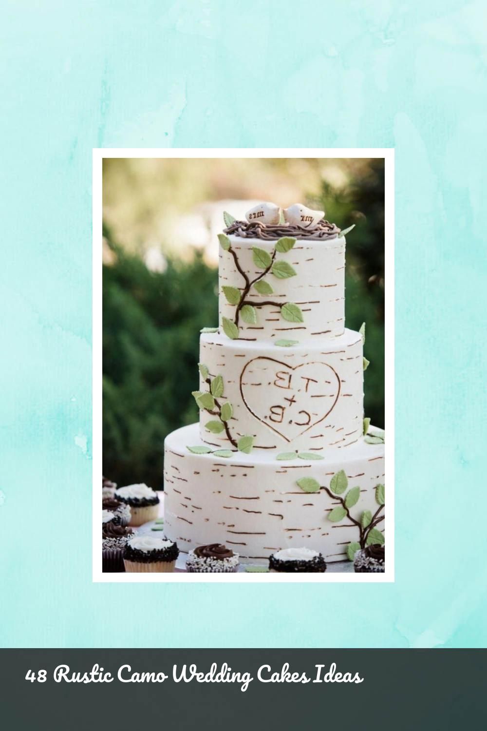 48 Rustic Camo Wedding Cakes Ideas 1